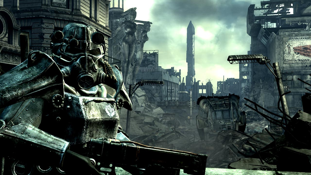 The setting for Fallout 3 shifted to the wasteland of Washington, D.C.