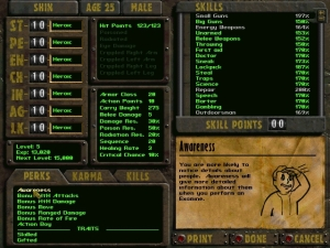 Fallout is a role-playing series, and stats play a large role in your character's development.