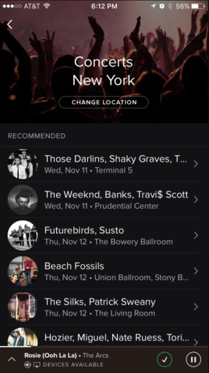 Spotify Concerts