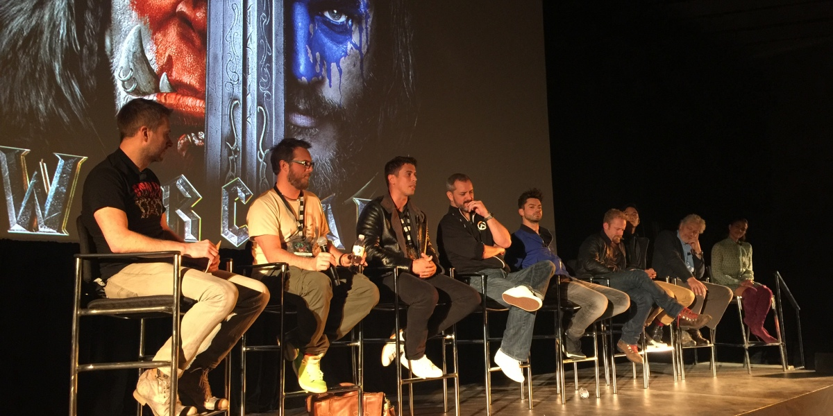 Warcraft movie panel BlizzCon