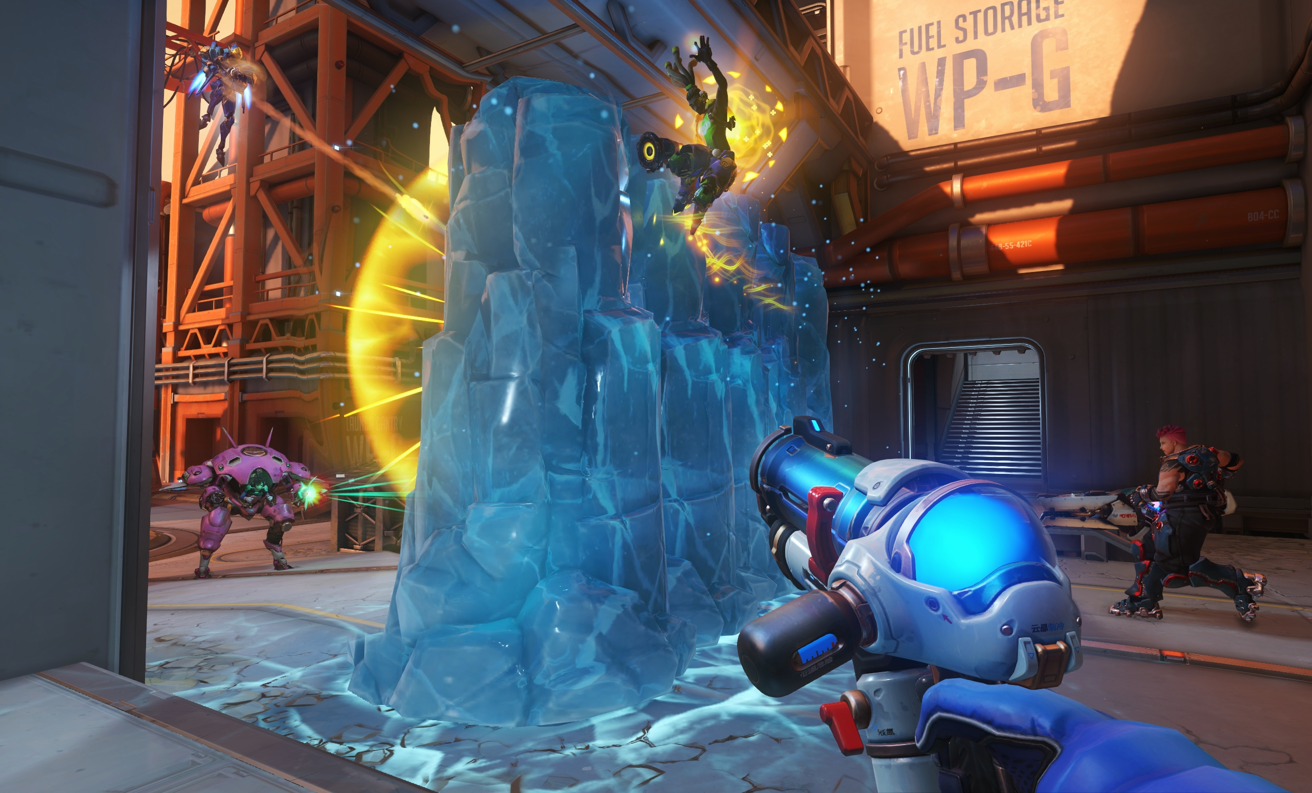 Mei's ice wall is an amazing tool.