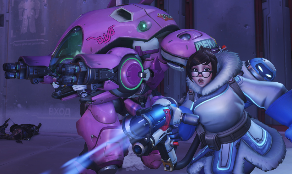 Overwatch Mei and D.Va