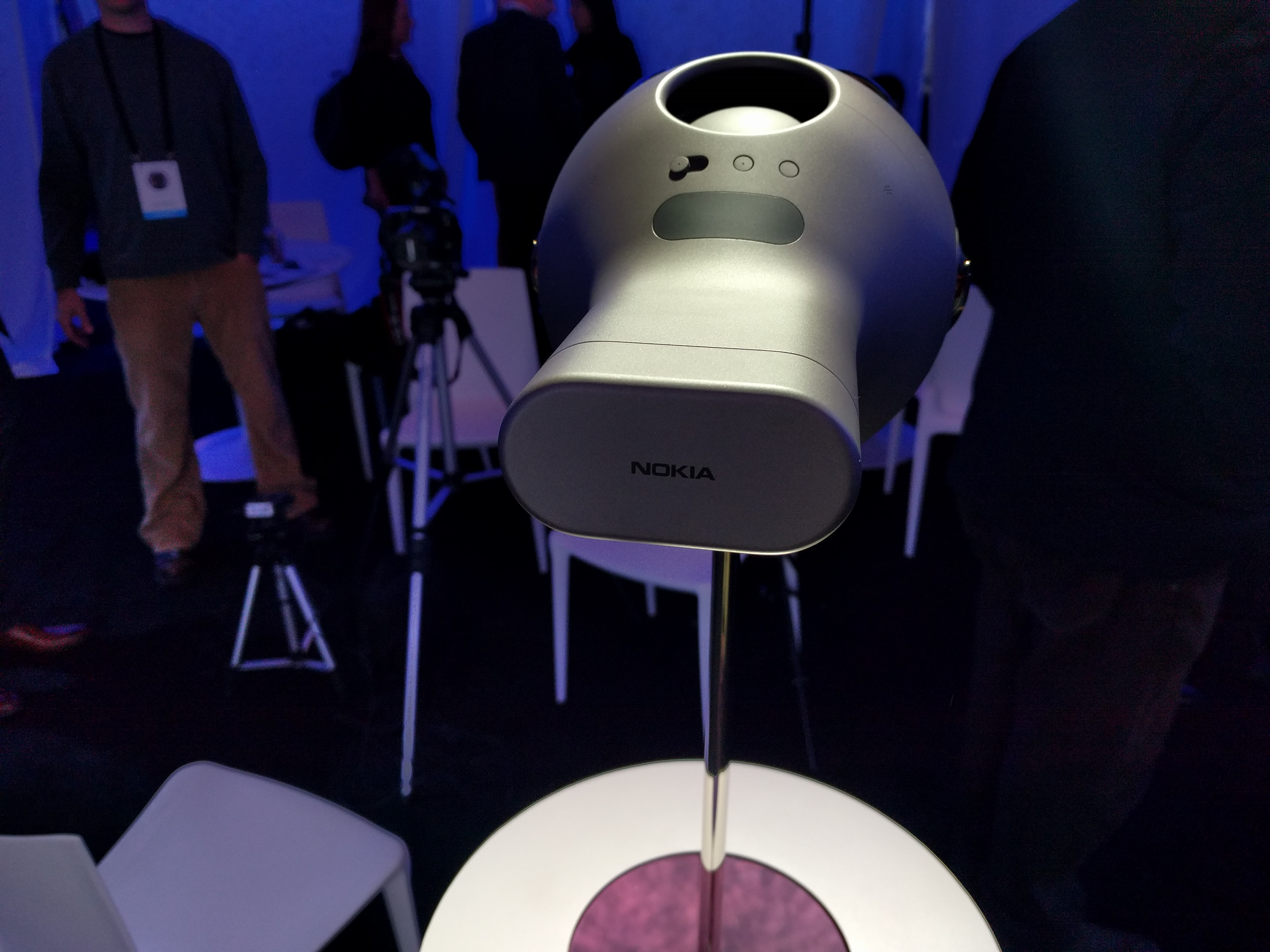 The Nokia Ozo virtual reality camera.