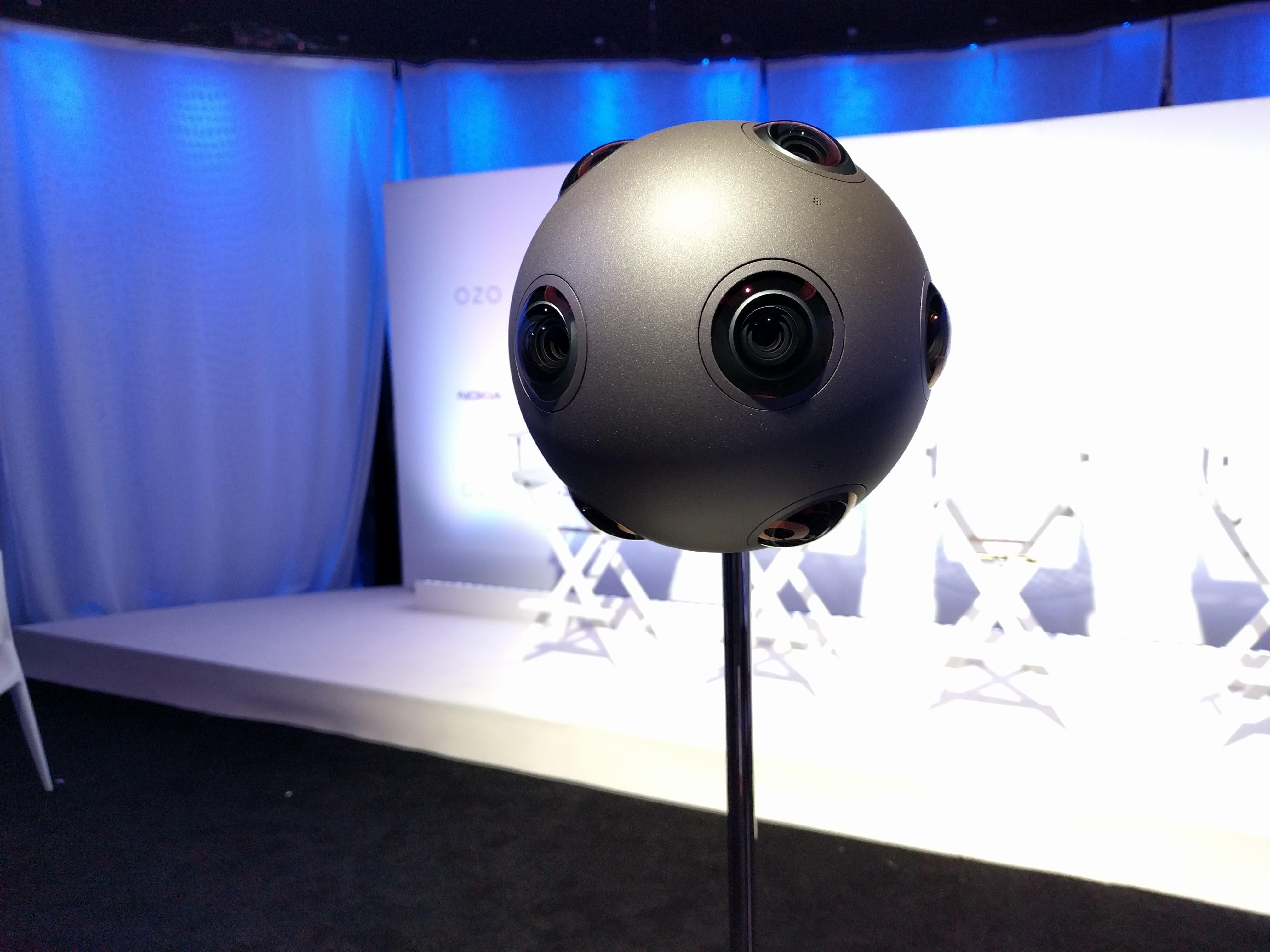The Nokia Ozo virtual reality camera.