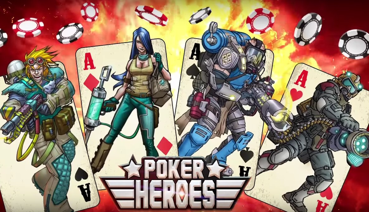 The combined addictions of mobile games and poker come together well in Poker Heroes