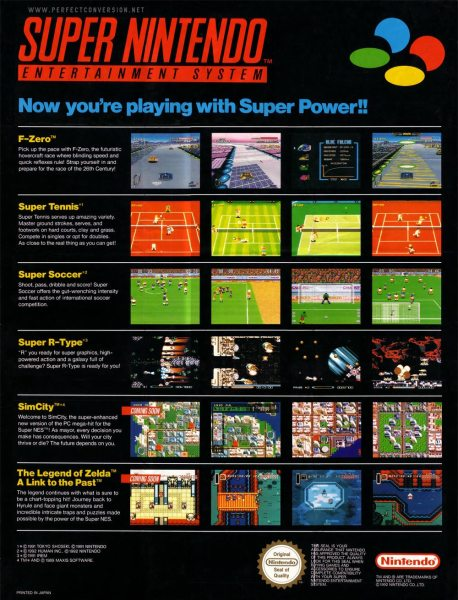 """Posters and print ads - like this one from Australia - were one of the few places game screens got ad priority over the """"experience"""" of play."""