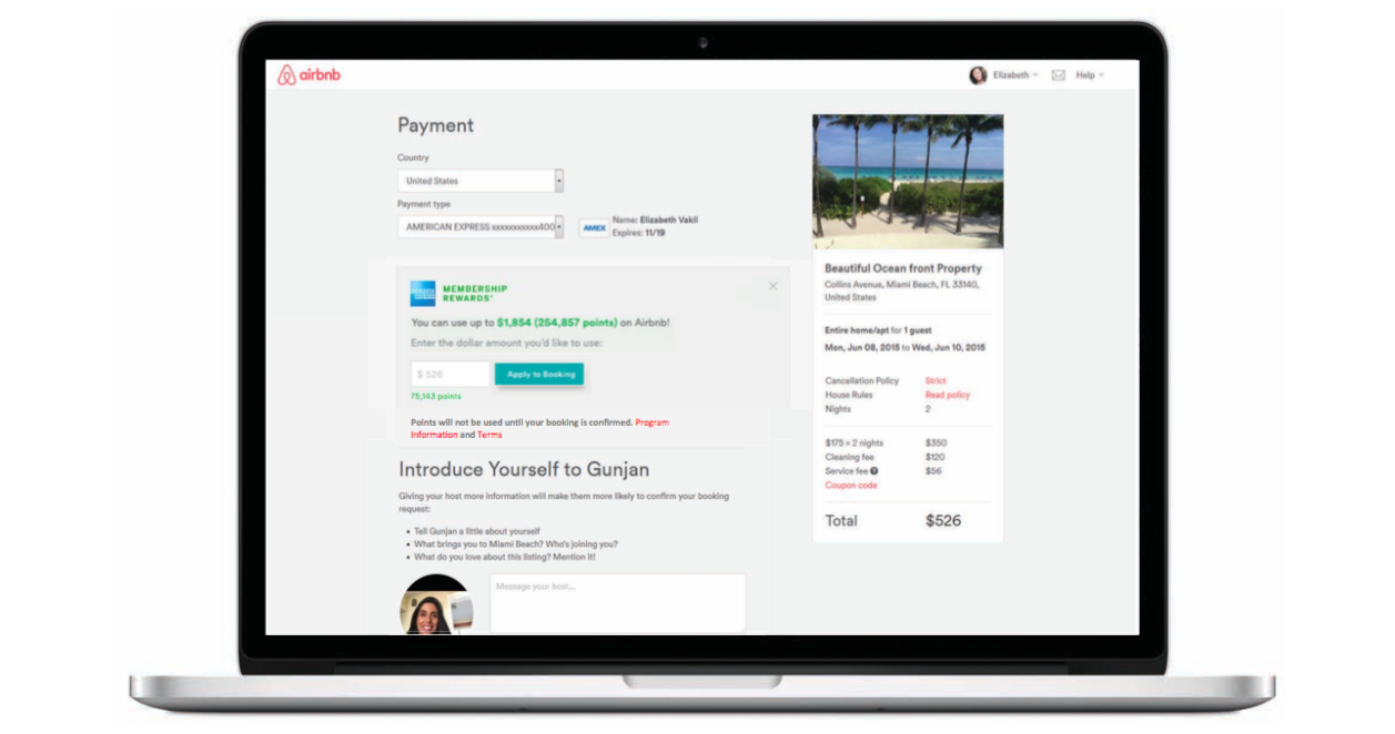 Book your next Airbnb directly using your American Express