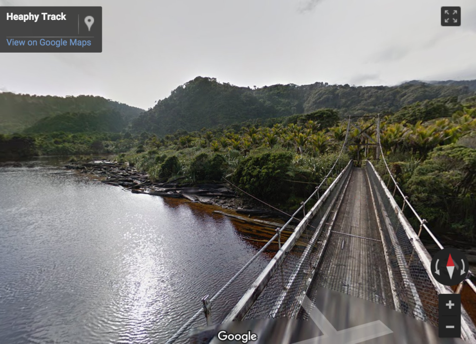 """It's just a hop, step and a swing bridge over the Kohaihai River on the Abel Tasman Track."""
