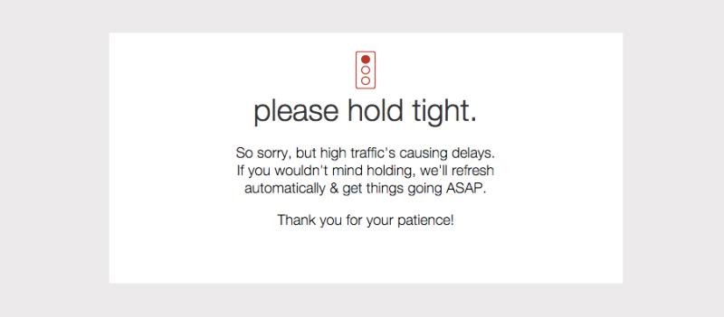 Many online shoppers saw this message at Target.com Monday morning.