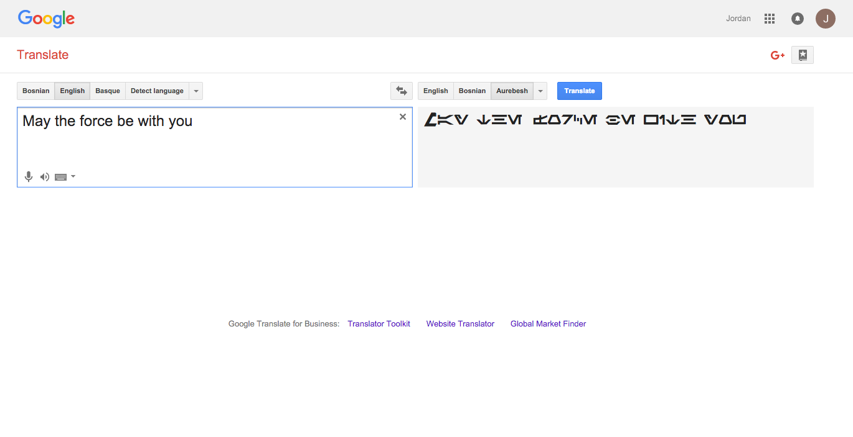 Google's latest Star Wars easter egg is Aurebesh support in Google