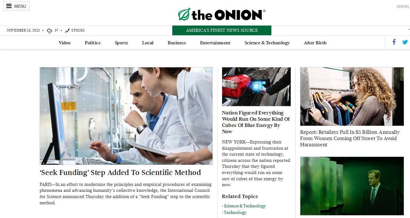 Twitter was built for the onion 39 s brand of satire venturebeat offbeat by paul sawers - Unknown uses for an onion ...