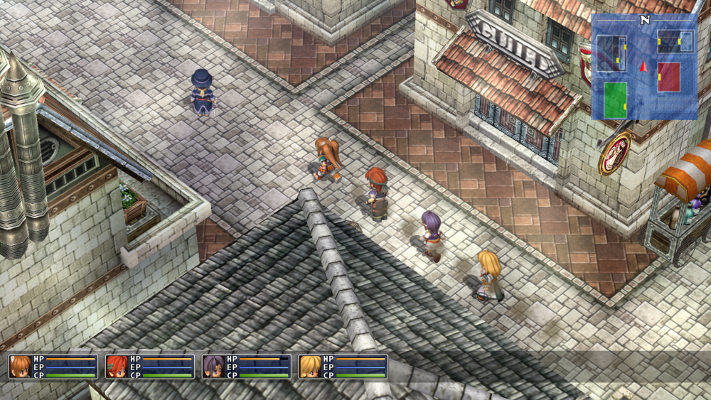 The Legend of Heroes: Trails in the Sky SC is on the wrong side of