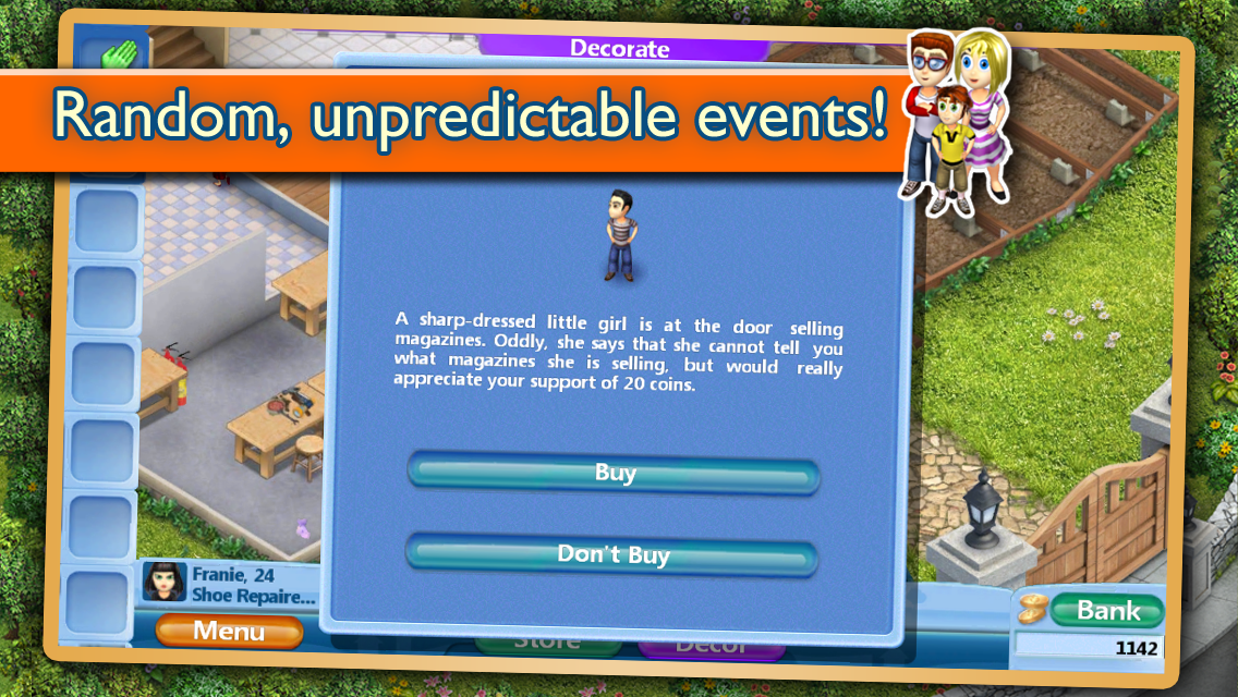 Virtual Families is a hell comprised entirely of ideas scrapped from Sims games.