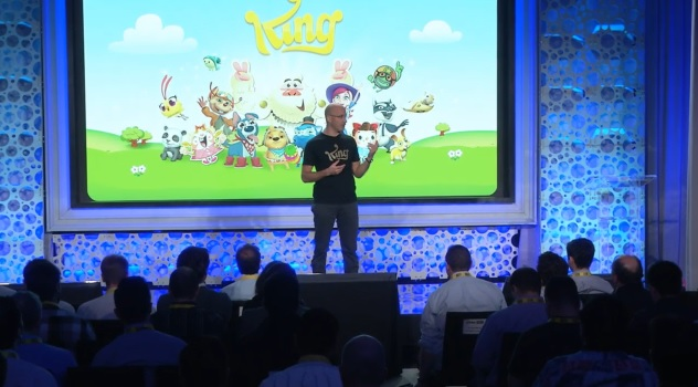 Riccardo Zacconi, CEO of King, at Activision Blizzard's investor day.