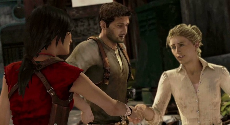 Chloe meets Elena in Uncharted 2: Among Thieves.