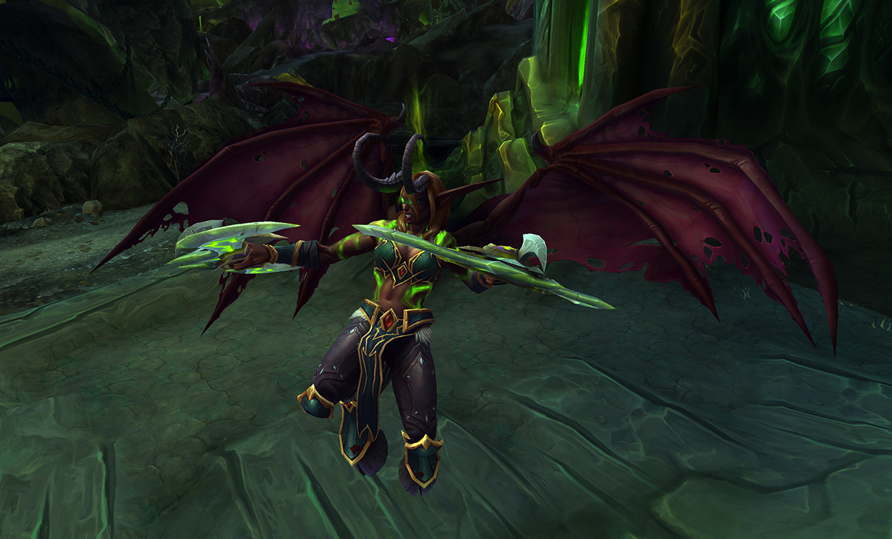 World of Warcraft demon hunter glide