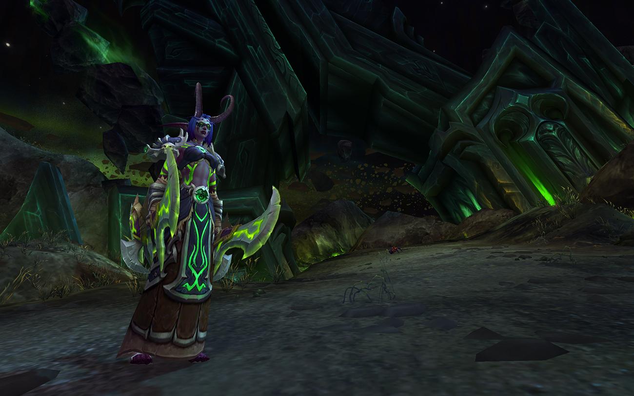 World of Warcraft demon hunter illidan horns