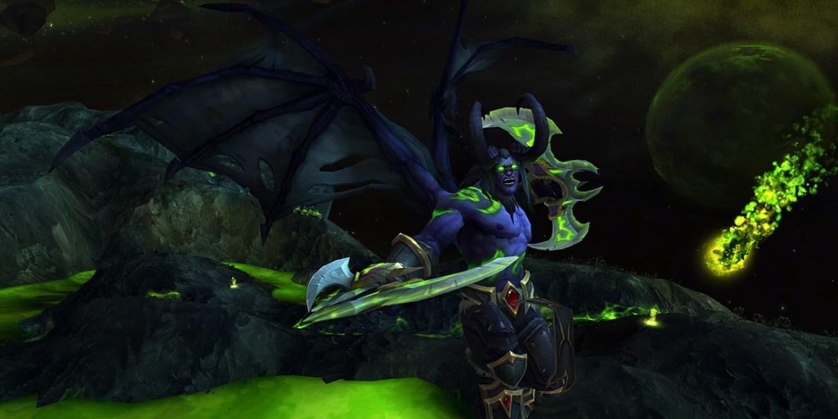 World of Warcraft demon hunter male attack