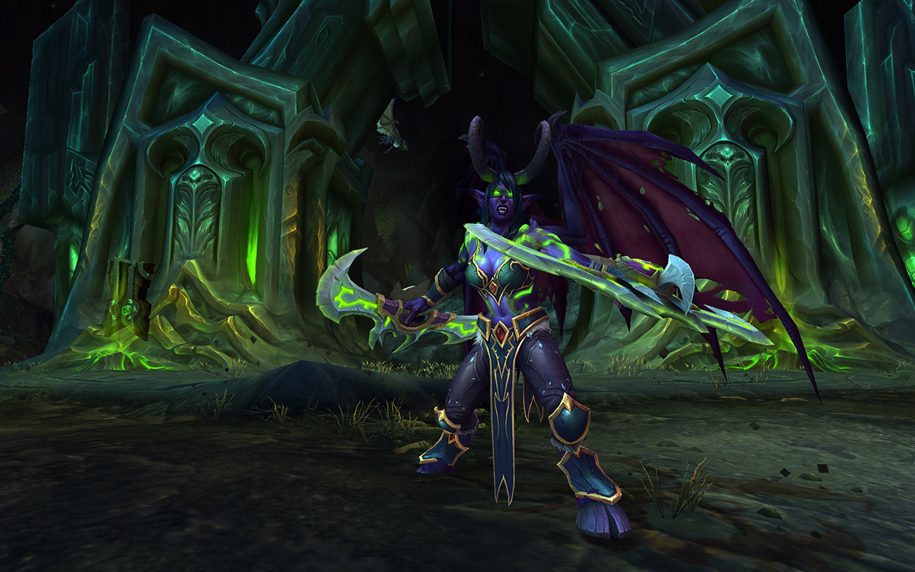 World of Warcraft: Legion demon hunter nelf female