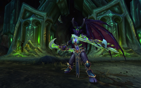 World of Warcraft: Legion demon hunter nelf female