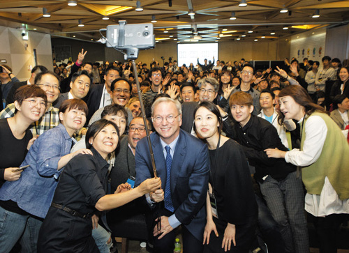 Google cofounder Eric Schmidt on his Seoul visit before the weekend