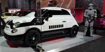 What is it with electric cars and Star Wars Stormtroopers anyway?