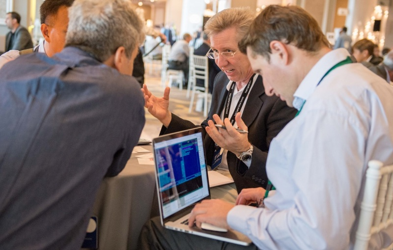 Dealmaking at last year's Intel Capital Global Summit in 2014.