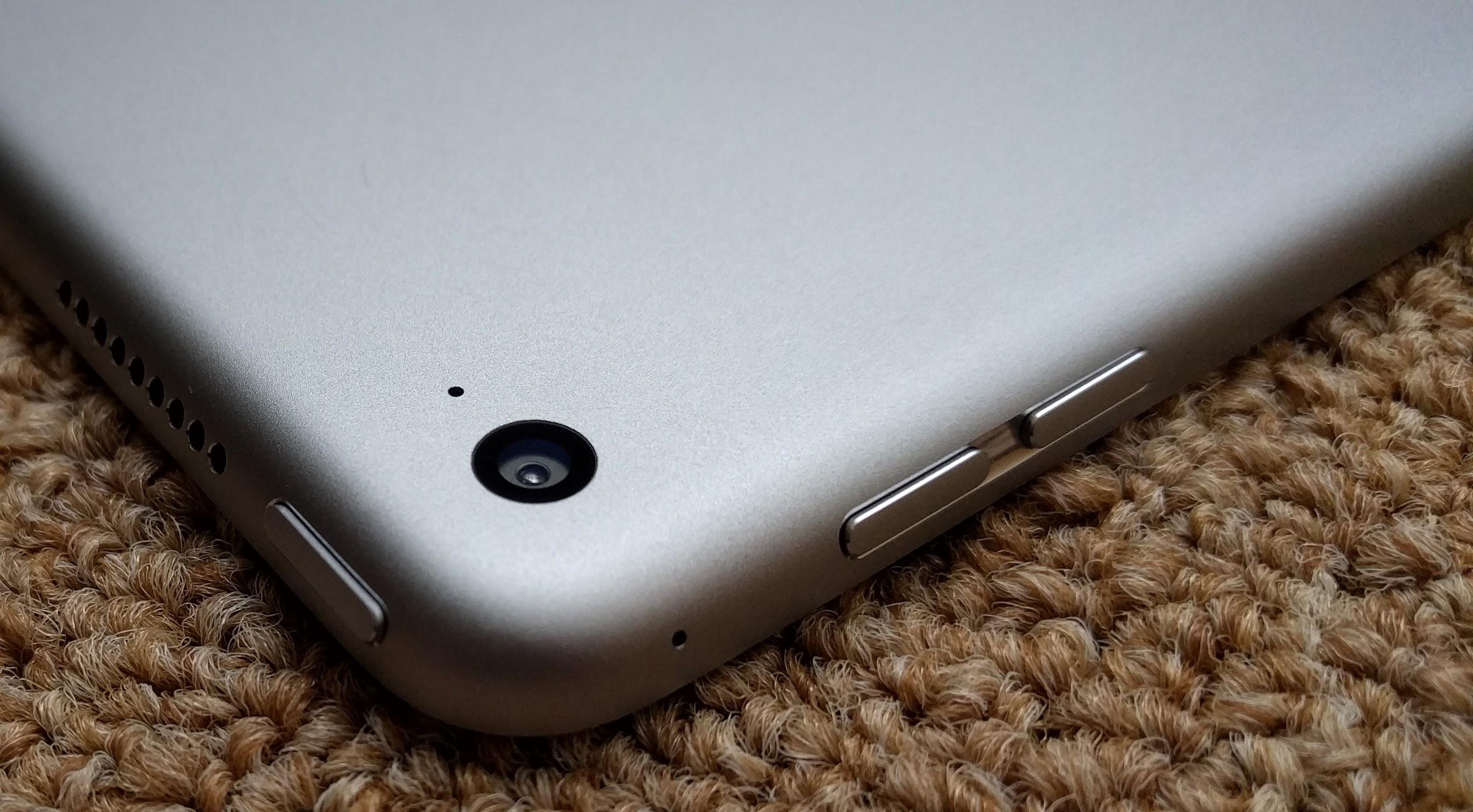 The back camera on the iPad Pro.