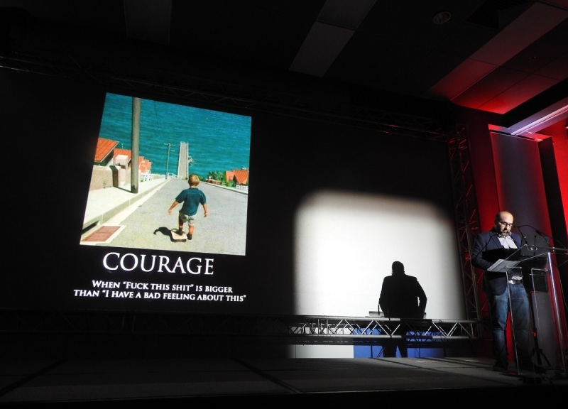 Jason Della Rocca wants game developers to have courage.