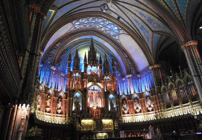 Basilica Notre-Dame de Montreal.