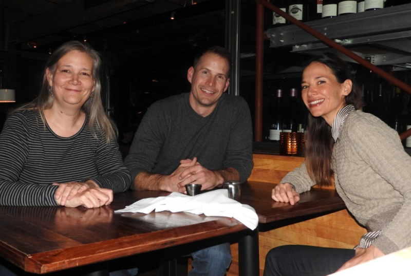 Amy Hennig, Scott Probst (both of EA Visceral Games) and Jade Raymond of EA Motive in Montreal.
