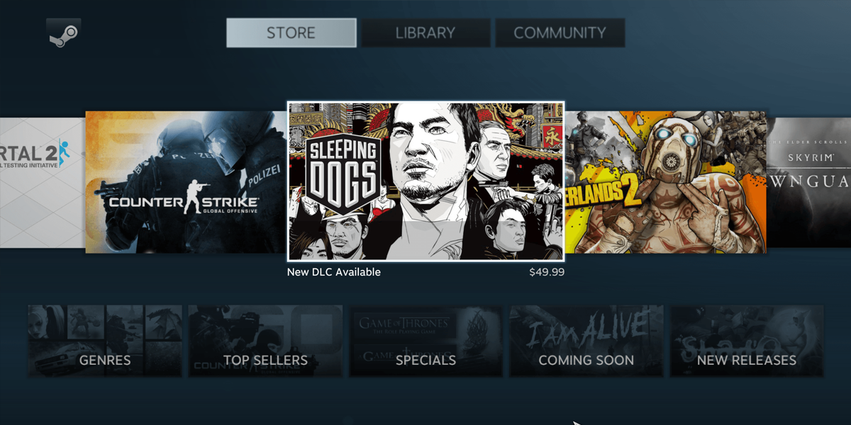 Steam storefront console mode