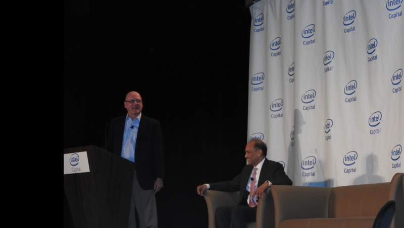 Wendell Brooks (left) and Arvind Sodhani of Intel Capital.