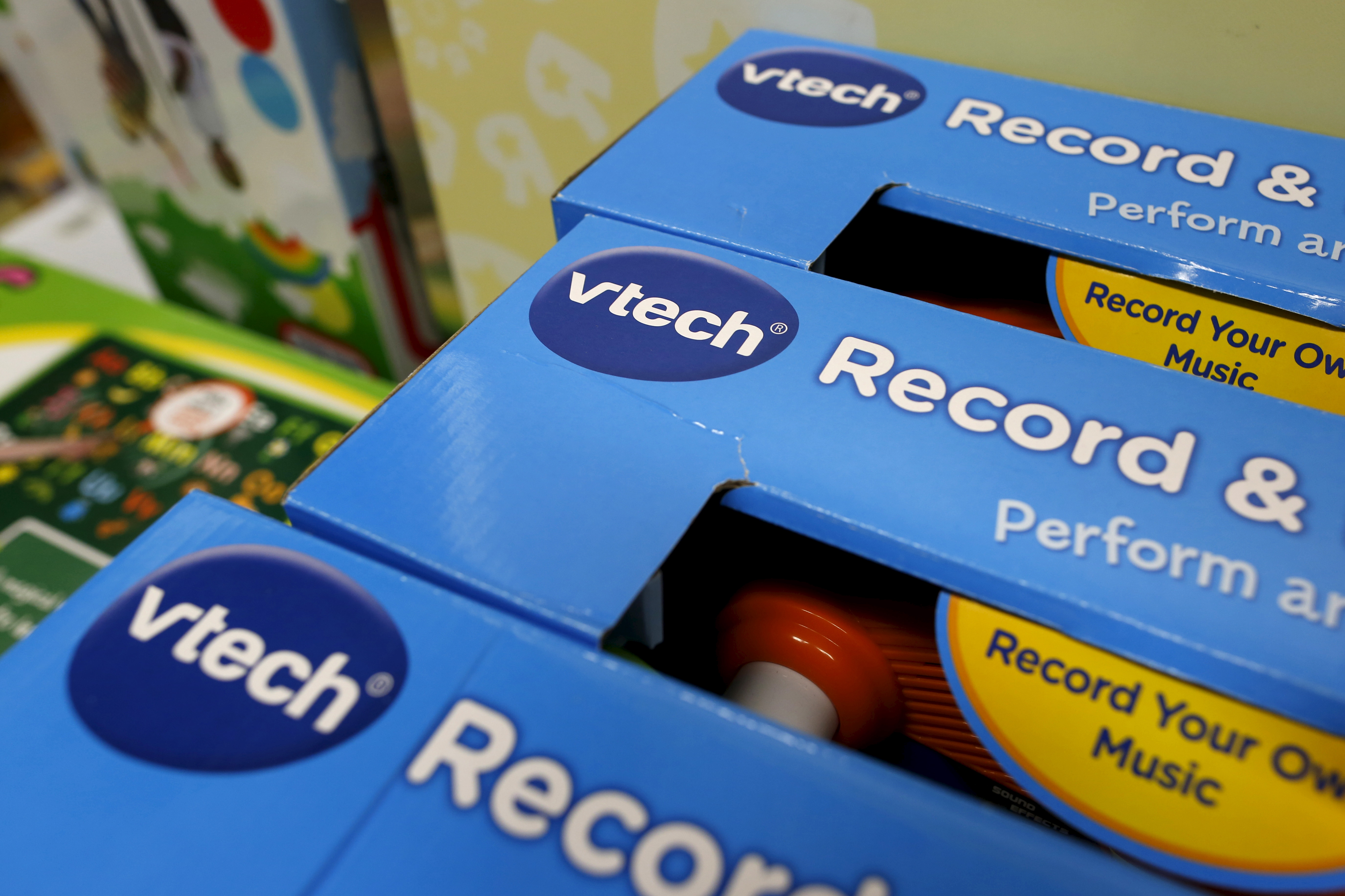 VTech's products are seen on display at a toy store in Hong Kong, China November 30, 2015.