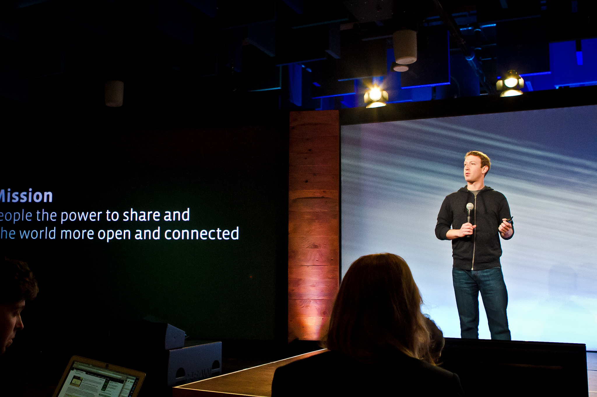 Facebook CEO Mark Zuckerberg speaking at a press event on June 20, 2013 ahead of the launch of video support on Instagram.