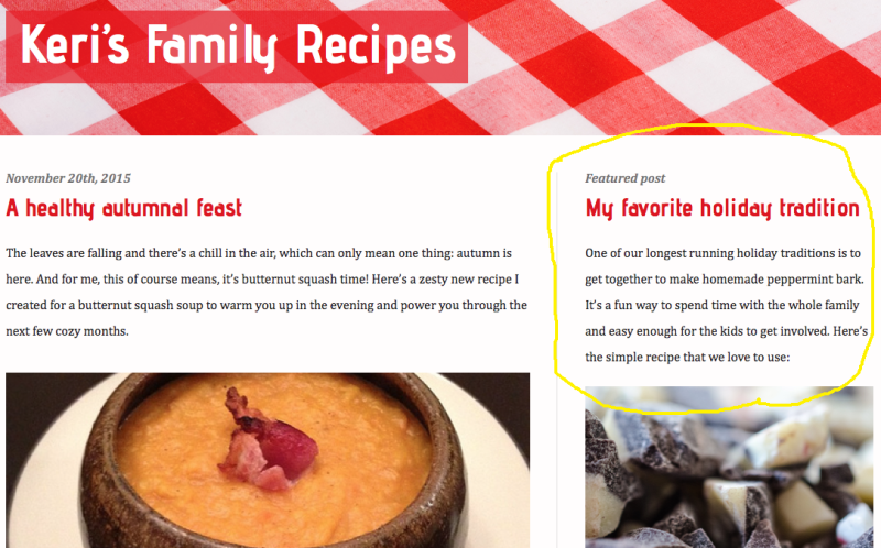 Blogger - Featured Post