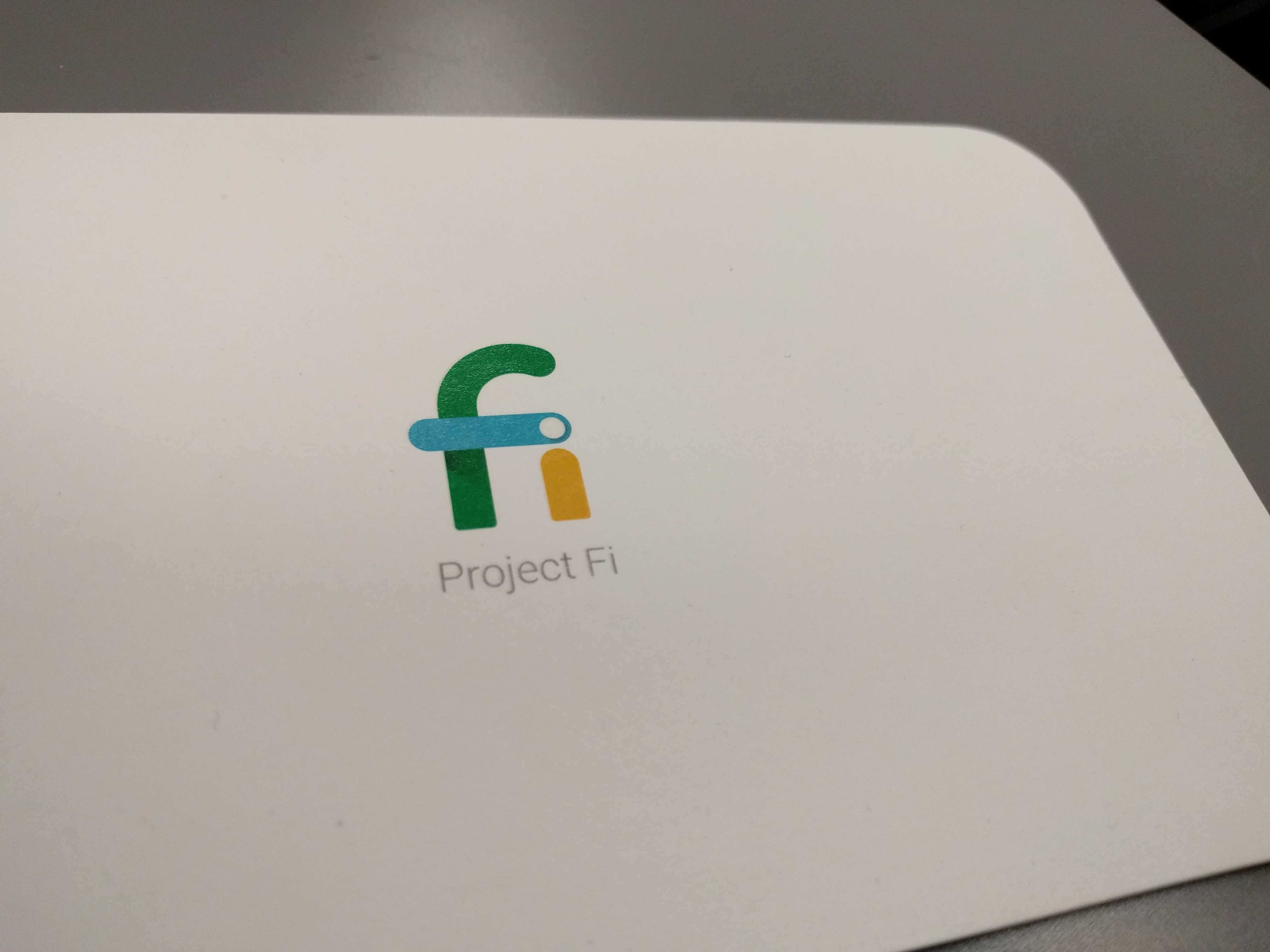 I started using the Project Fi SIM card after our Nexus 5X review unit came in.