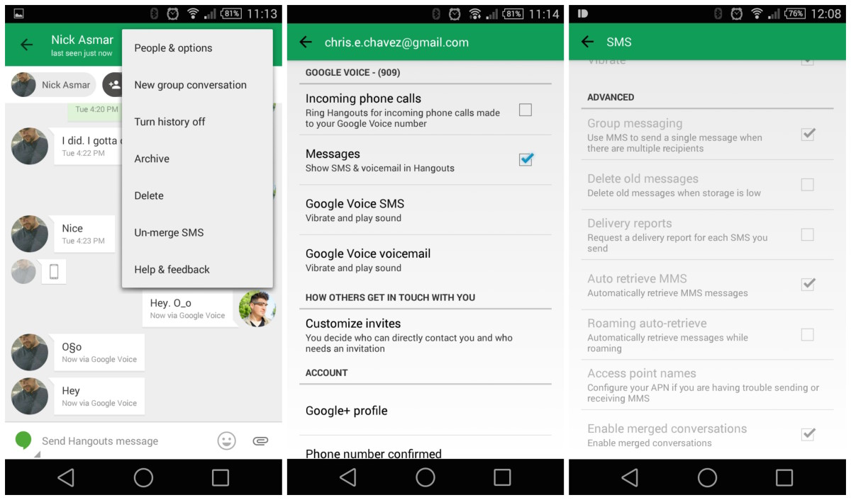 Google Hangouts for Android rumored to drop text messaging