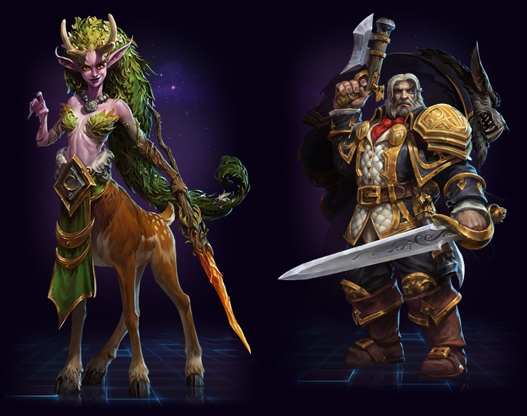 Heroes of the Storm will add Lunara by the end of the year. No release time yet for Greymane (right).