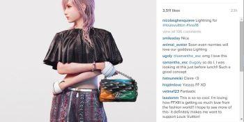 Final Fantasy's Lightning turns Louis Vuitton model