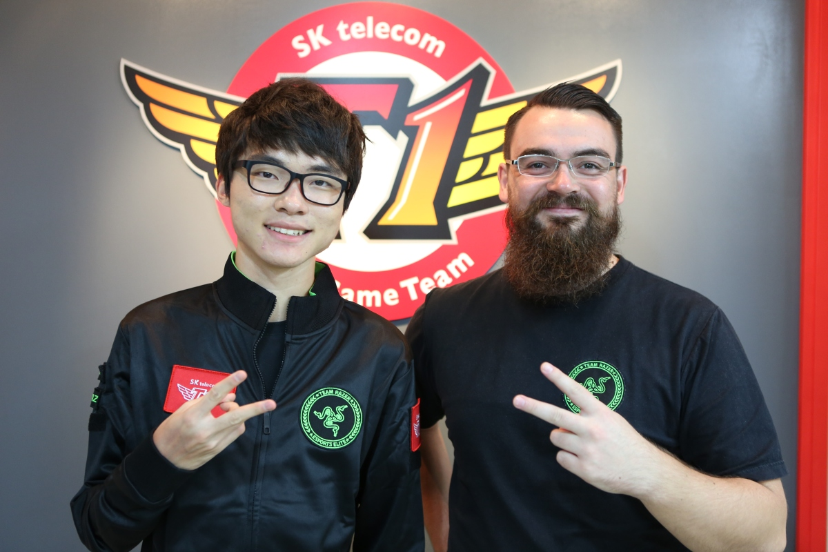 "Lee ""Faker"" Sang-hyeok (left) is one of the best players under Razer's banner."