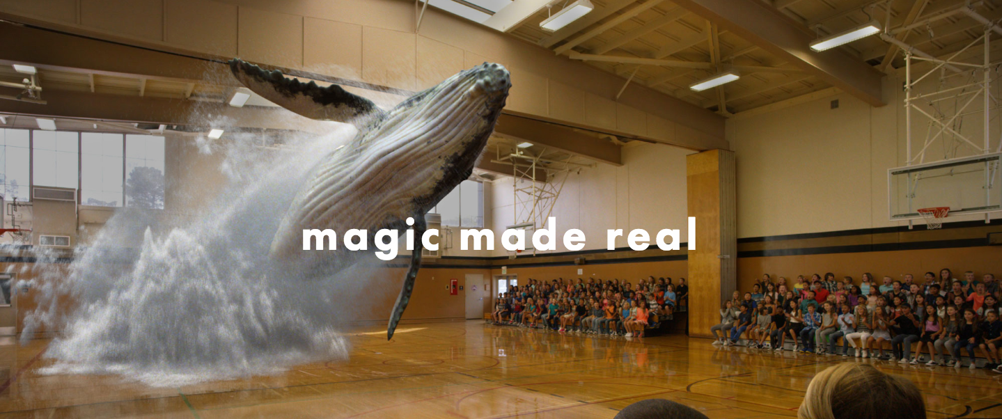 Magic Leap homepage screenshot