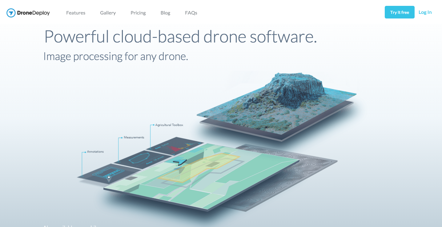 DroneDeploy homepage screenshot