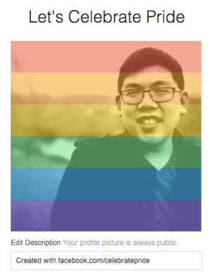 Facebook Celebrate Pride temporary avatar