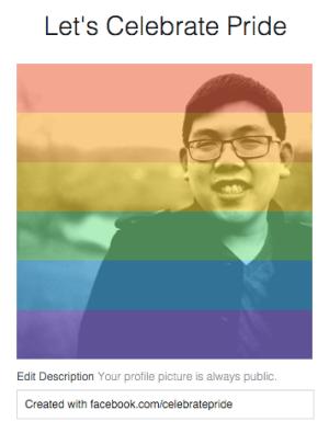 Facebook Celebrate Pride temporary avatar