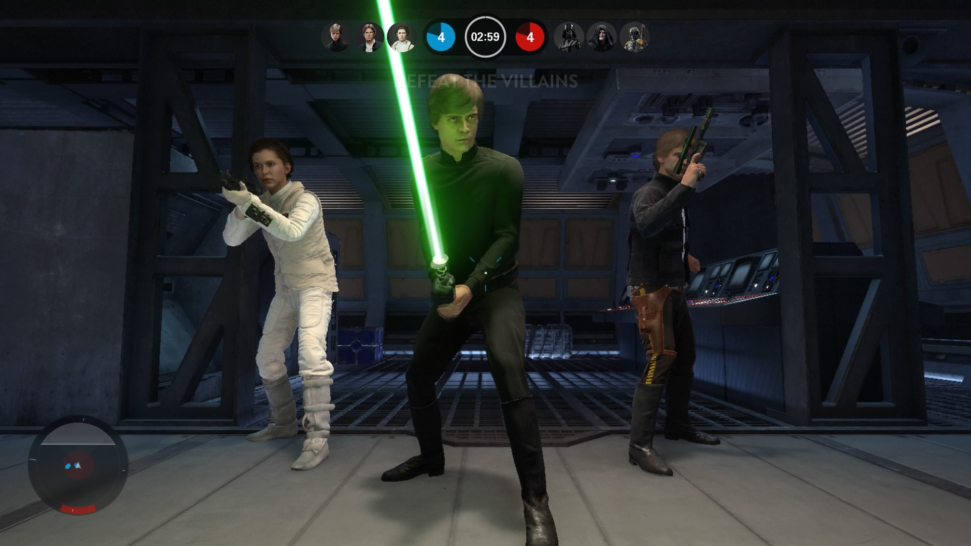The heroes are cool, but I love playing as a random Rebel or Imperial.