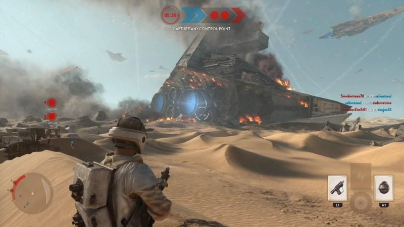 Star Wars Battlefront: Jakku map