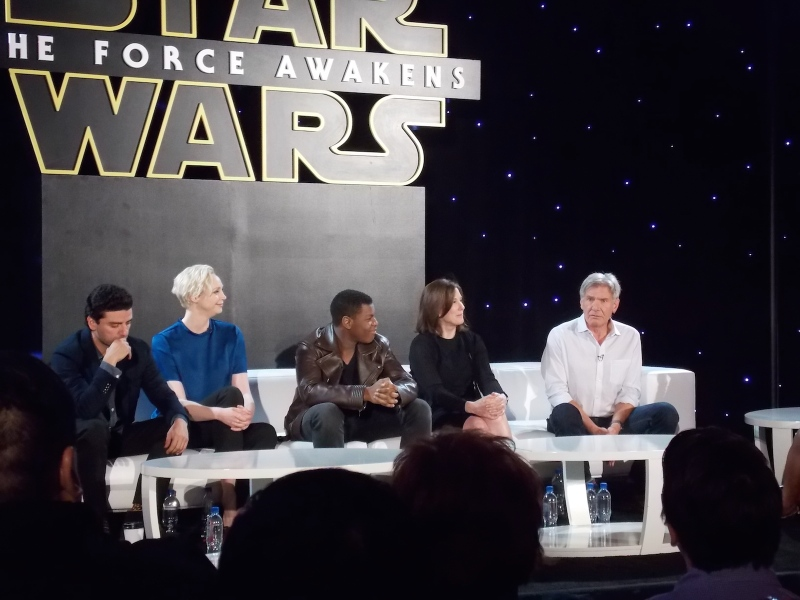 Star Wars: The Force Awakens press day
