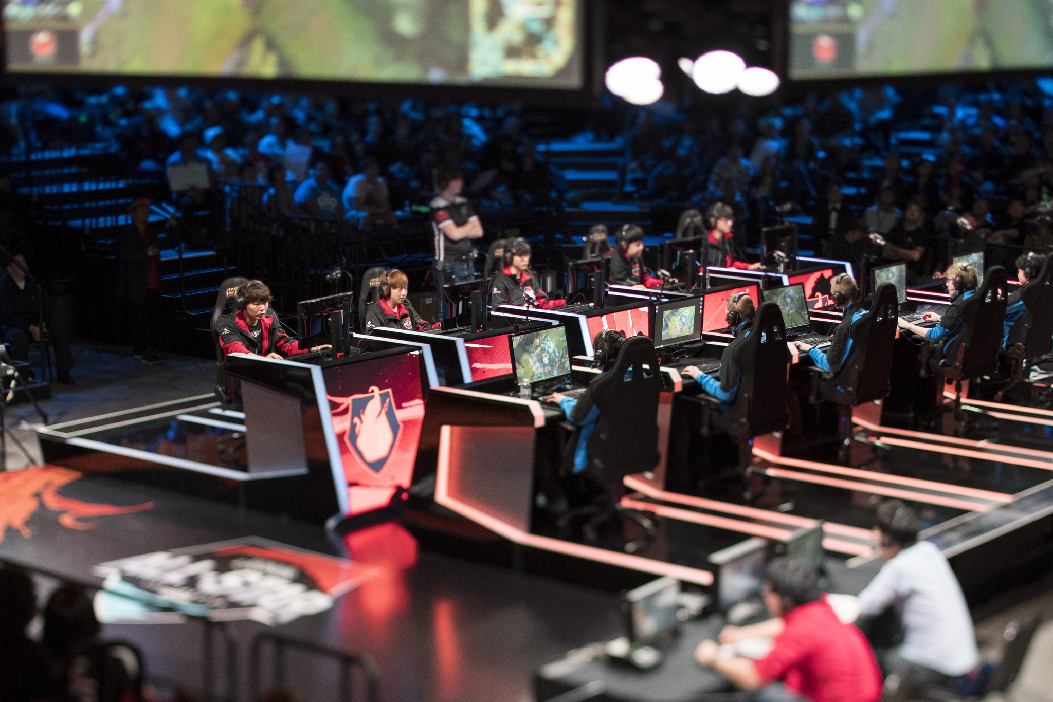 Team Fire competes at the 2015 League of Legends world championships.
