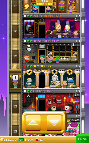 It doesn't take long for the waiting (or paying) to be force-started in Tiny Towers Vegas
